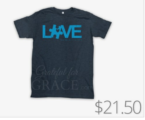 adoption autism t shirt fundraiser grateful for grace